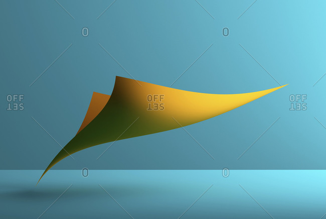 Abstract shape over blue background- 3D Rendering