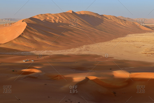 Oman- Dhofar- sand dunes in the Rub al Khali desert