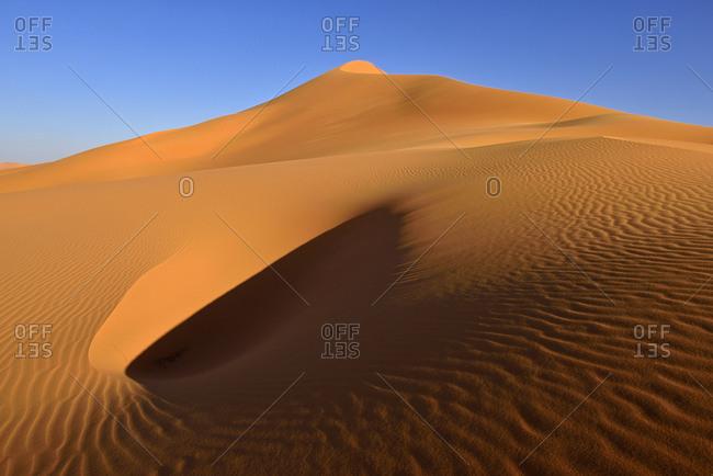 Africa- Algeria- Illizi Province- Sahara desert- Tassili n'Ajjer National Park- Tadrart- sand dunes of In Tehak