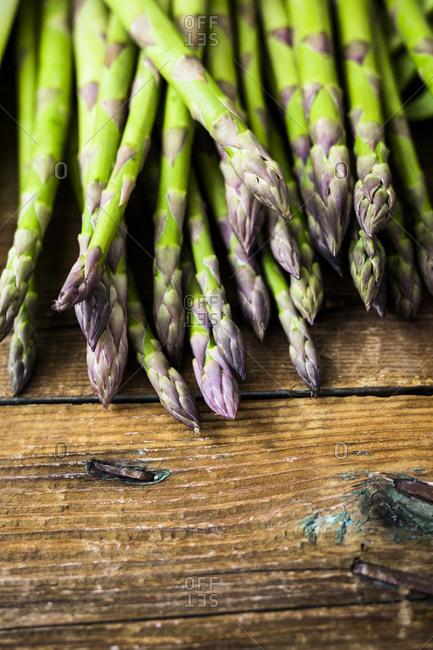 Green asparagus- copy space