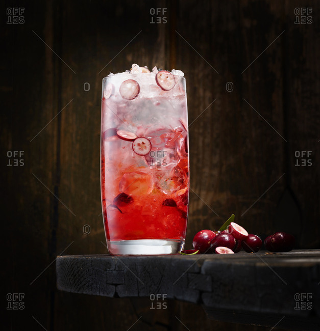 Cranberry vodka from the Offset Collection