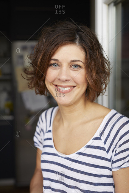Portrait of content mature woman