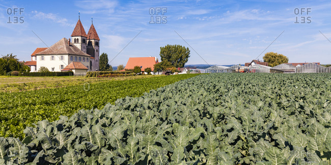 Germany- Reichenau Island- Niederzell- view to St Peter and Paul