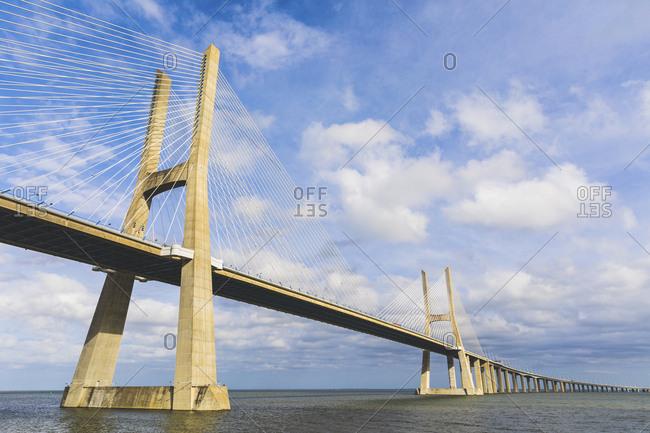 Portugal- Lisbon- Vasco da Gama bridge and Tejo river