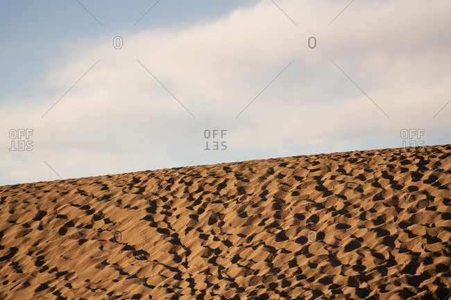 Texture of sand dunes in Death Valley National Park, California