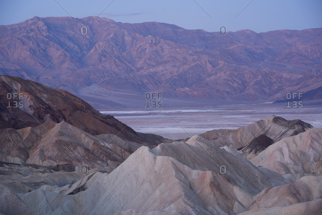 Blue hour in Death Valley National Park, California