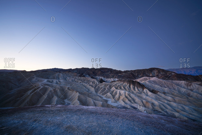 View of Death Valley National Park, California at dawn