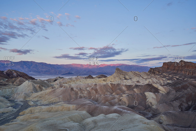 Early morning at Death Valley National Park in California