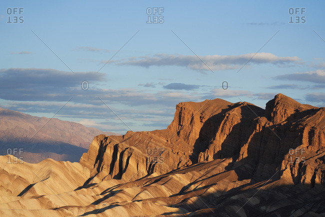 Early morning sunrise at Death Valley National Park in California