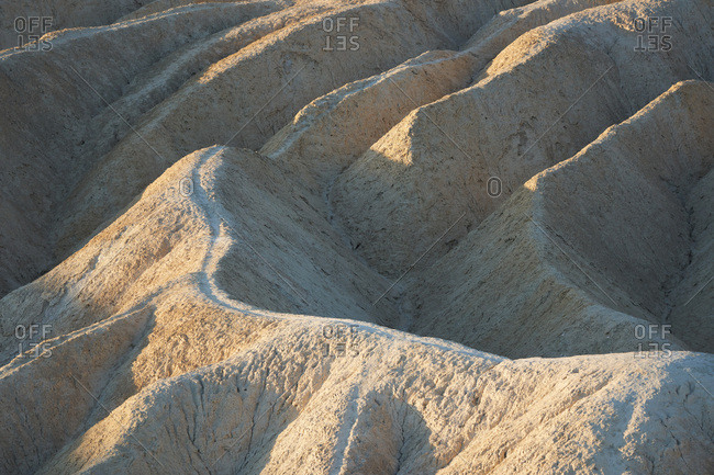 Erosion at Zabriskie Point in Death Valley National Park, California