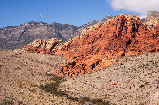 Blue sky over Red Rock Canyon National Conservation Area, Nevada