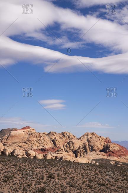 Cloudy sky over Red Rock Canyon National Conservation Area, Nevada
