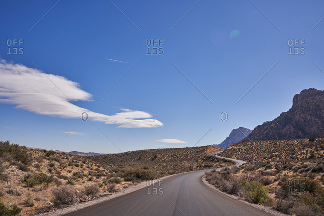 Winding road in Red Rock Canyon National Conservation Area, Nevada