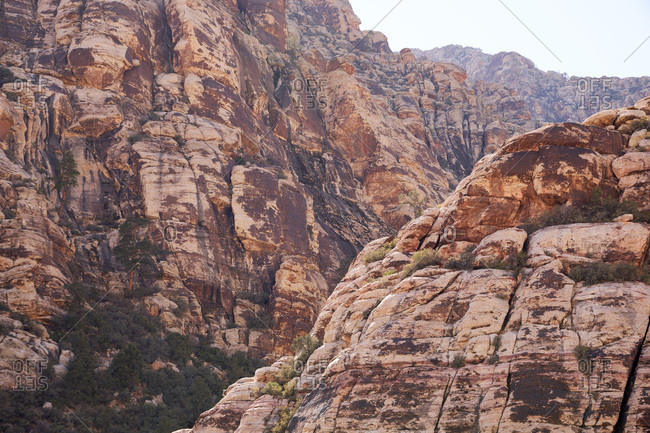 Canyons in Red Rock Canyon National Conservation Area in Nevada