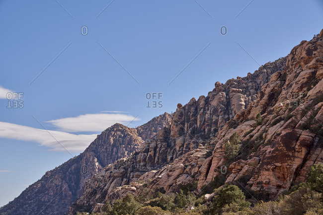 Rock formation in the Red Rock Canyon National Conservation Area, Nevada