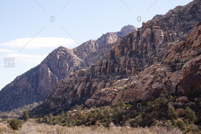Rock formation in the Red Rock Canyon National Conservation Area in Nevada