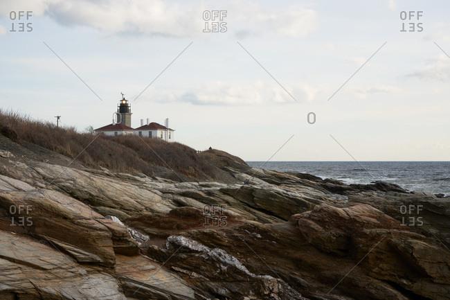 Lighthouse on the coast of Rhode Island