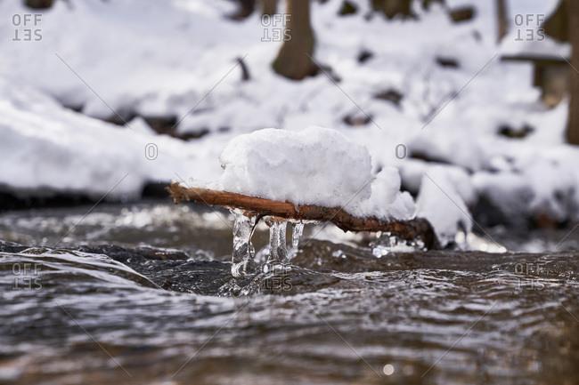 Winter landscape in New Hampshire