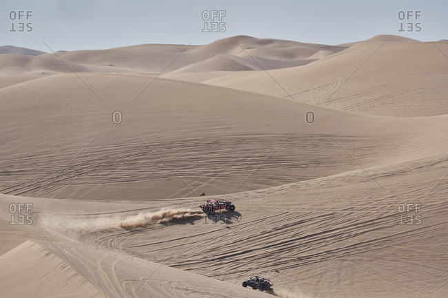 Dune buggy racing in the Imperial Sand Dunes, California