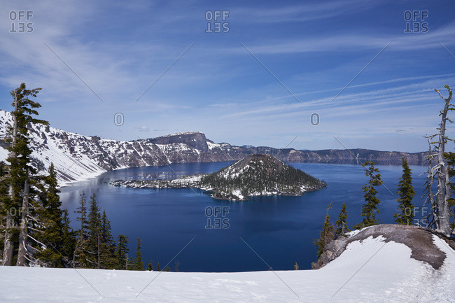 View of Crater Lake National Park, Oregon