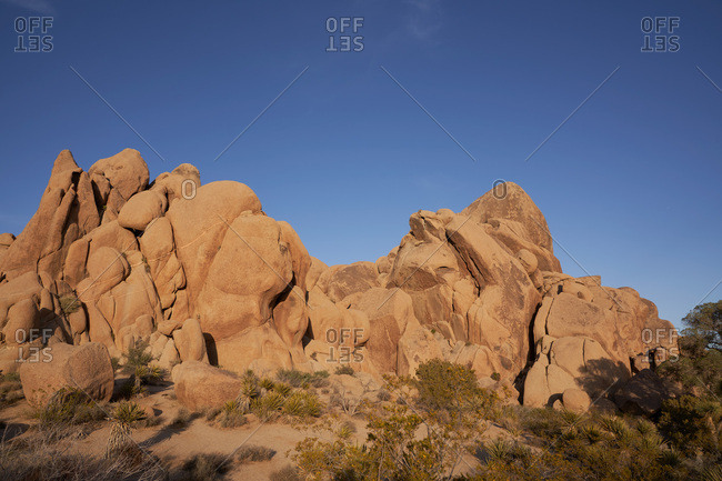 Rock formation in Joshua Tree National Park, California