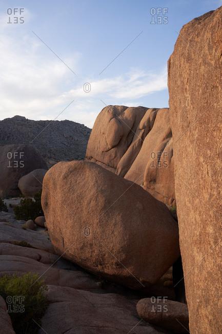 Rock formations in Joshua Tree National Park, California