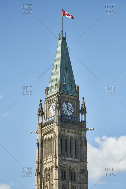 Parliament Hill during spring season in Ottawa, Ontario, Canada