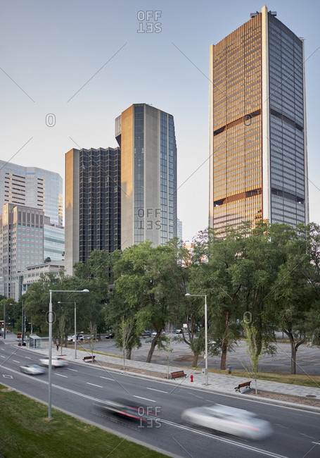 Cityscape of downtown Montreal, Quebec, Canada
