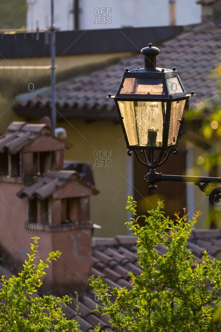 Street lamp in Verona, Italy