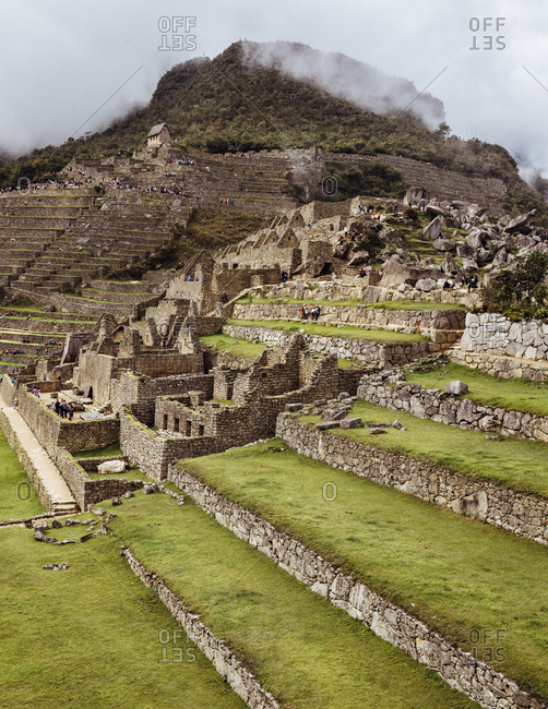 Historic ruins in Andes mountains