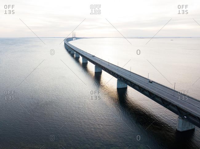 High angle view of Oresund Bridge