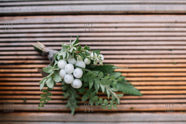 Boutonniere with white berries
