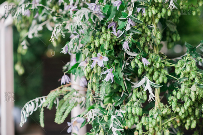 Floral wedding d�cor outdoors