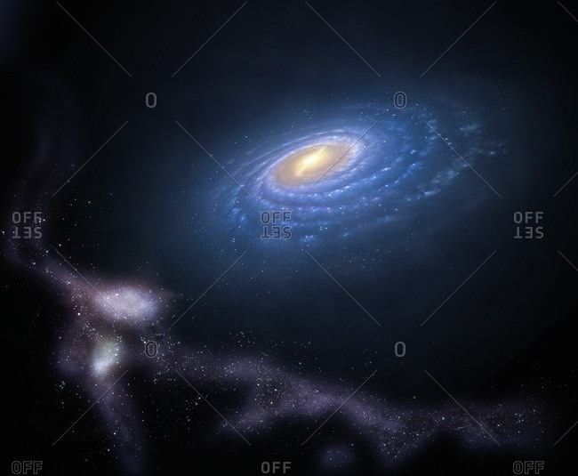 Illustration of the Milky Way's so-called Magellanic Stream
