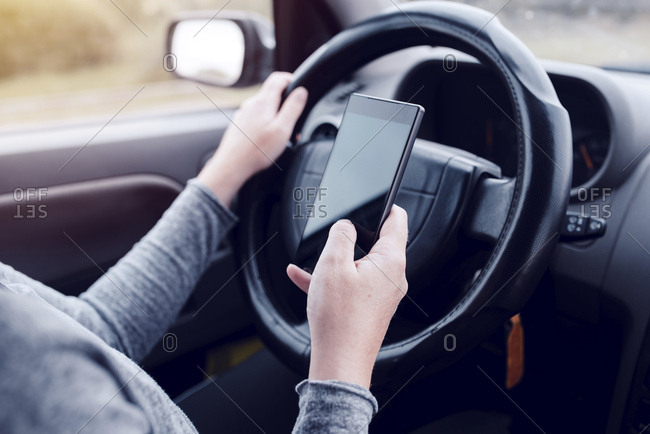 Driver using smartphone