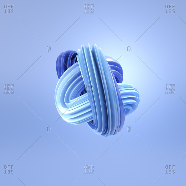 Abstract blue swirl, 3d rendering