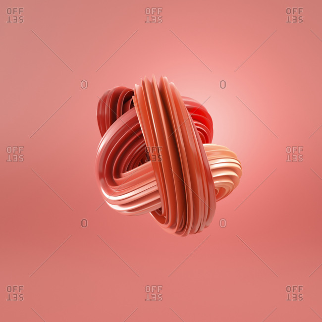 Abstract red swirl- 3d rendering