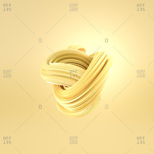 Abstract yellow swirl- 3d rendering