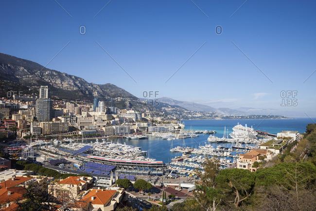 Principality of Monaco- Monaco- Monte Carlo- View to Port Hercule