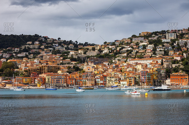 France- French Riviera- Cote d'Azur- Villefranche sur Mer- Old Town at Mediterranean Sea