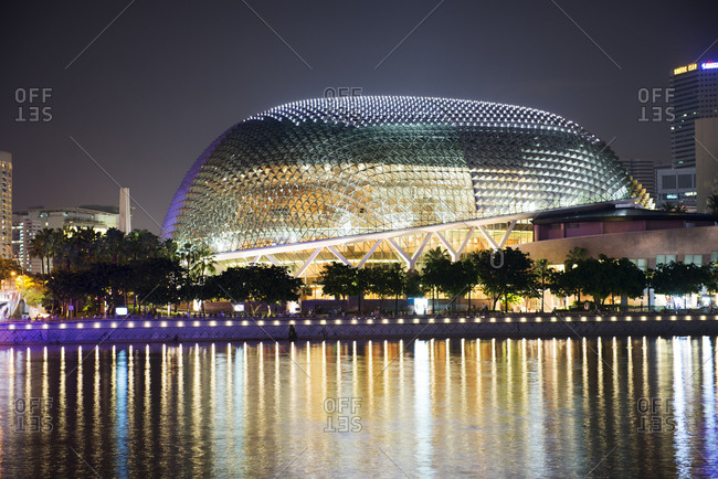 Singapore - February 9, 2013: Theatres by the Bay at night