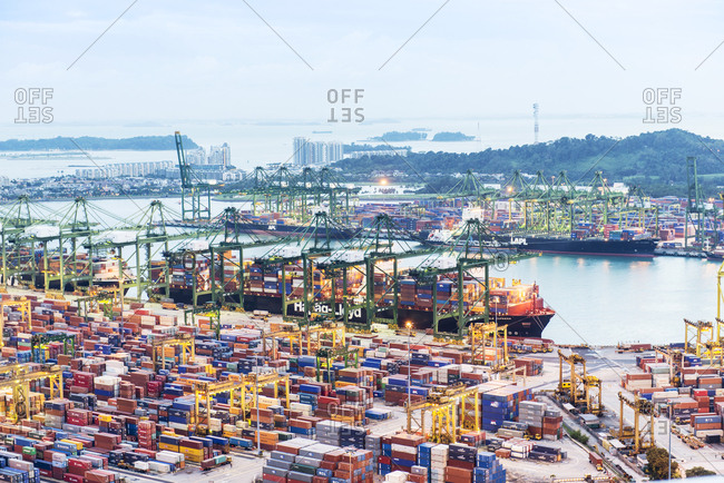 Singapore - February 12, 2013: Container Port in Singapore
