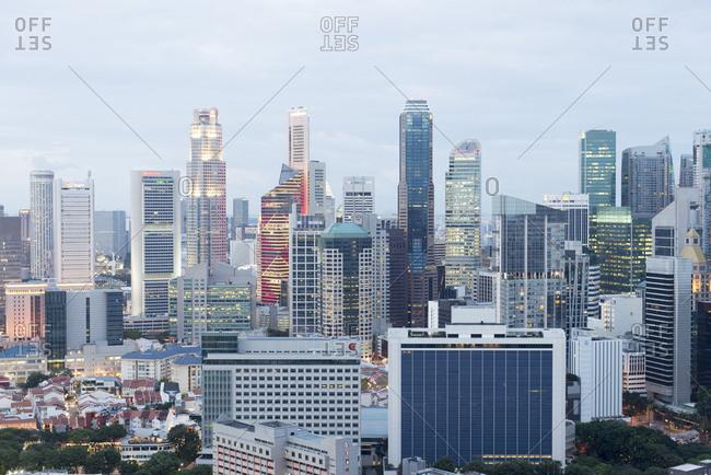 Singapore - February 12, 2013: Skyline of Singapore