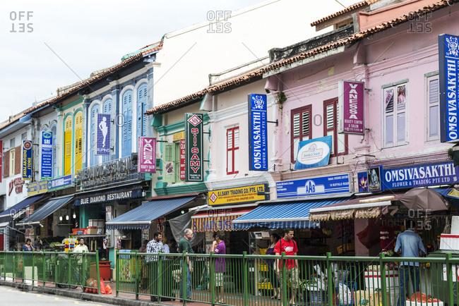 Singapore - February 13, 2013: Little India, Singapore