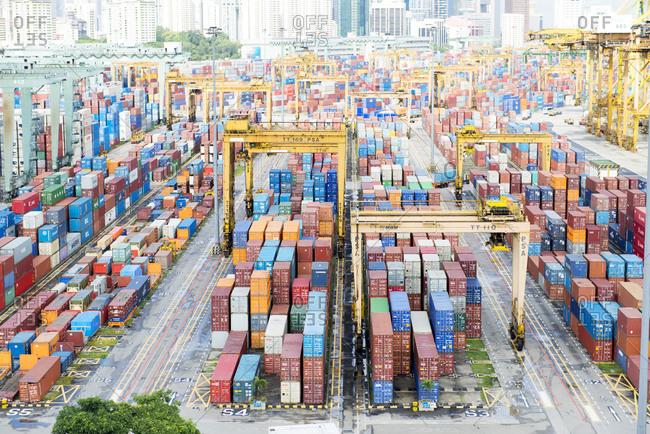 Singapore - February 12, 2013: Port of Singapore