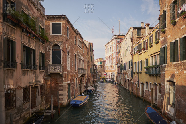 Venetian canals with italian architecture, Venice, Italy