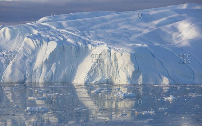 Iceberg scenery, Qeqertarsuaq, Disko Island, Greenland