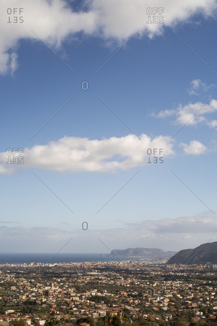 View of Palermo city from Monreale, Sicily, Italy
