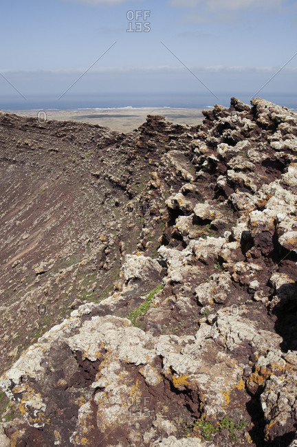 Calderon Hondo volcano crater, Fuerteventura, Canary Islands, Spain