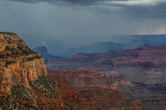 Dramatic sky over Grand Canyon, Arizona, USA